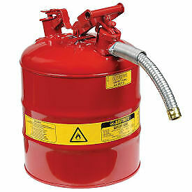 Justrite Type Ii Accuflow Steel Safety Can 5 Gallon With 1 Metal Hose