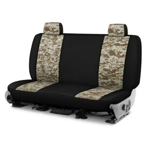 For Dodge Ram 1500 Van 95 96 Camo 2nd Row Digital Tan W Black Custom Seat Covers