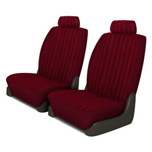 For Dodge Ram 1500 Van 97 03 Plush Regal 1st Row Burgundy Custom Seat Covers
