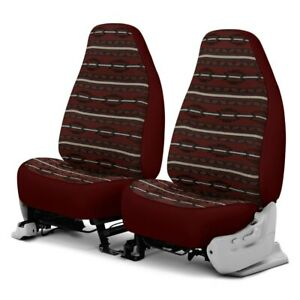 For Dodge Ram 1500 Van 97 03 Southwest Sierra 1st Row Maroon Custom Seat Covers