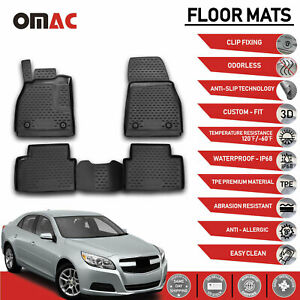 Floor Mats Liner 3d Molded Fits For Chevrolet Malibu 2013 2016