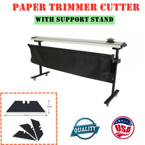 Usa Stock 63 Manual Large Format Paper Cutter Trimmer With Support Stand