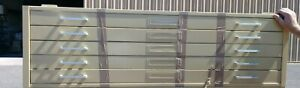 Mayline Hamilton Steel Map Chest Flat File Cabinet 5 Drawer 15 X 42 X 55