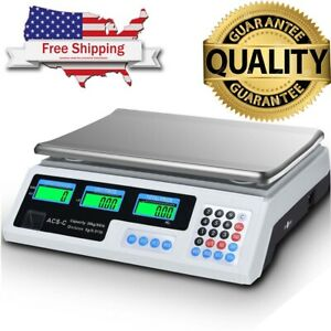 66 Lbs Digital Weight Scale Retail Food Meat Price Count Computing Scales