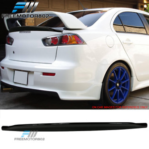 Fits 08 17 Lancer Evo X Jdm Duckbill Trunk Spoiler Wing Glossy Black Abs