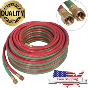 300psi 50ft 1 4 Twin Welding Oxygen Acetylene Weld Cutting Torch Hose