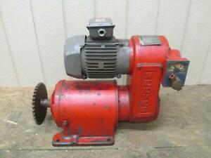 Reliance Reeves Drive Size 122 Variable Speed 20.9:1 Ratio 22 - 201 RPM 2 HP