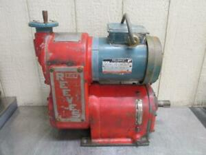 Reliance Reeves Drive Size B113 Variable Speed 44:1 Ratio 10.6 - 106 RPM 34 HP