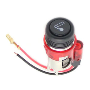 Universal Car Cigarette Lighter Illuminated 12v Replacement Car Lighter Van Red