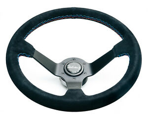 Viilante Arketecto 350mm Steering Wheel Suede Bmw Tri Color Stitch Fits E36 M3