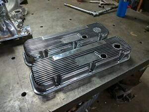 Mickey Thompson M T Bbc Chevy Valve Covers 396 427 454 Flawless Prof Polished