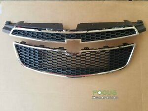 Front Upper Grille Lower Grill Set For Chevrolet Cruze 2011 2014 1 4l 1 8l 2 0l