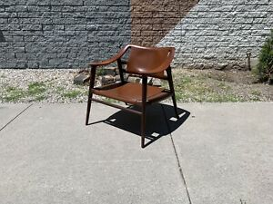 Rastad And Relling Bambi Lounge Chair Teak With Leather Sling Danish Modern