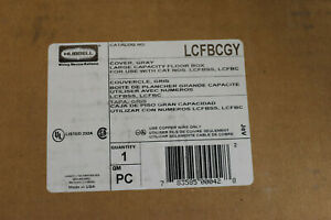 Hubbell Lcfbcgy Reinforced Large Capacity Floor Box Cover Gray