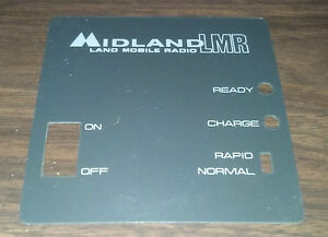 New Old Stock Oem Midland Lmr Rapid Rate Charger Faceplate Cover 70 c11 70 c48