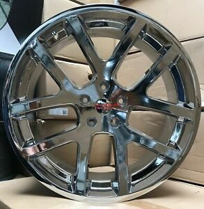 24 Inch Wheels 1500 Chrome Viper 1500 2004 2018 Rims With Tires Dodge Ram