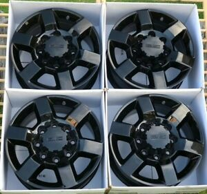 18 Gmc Sierra Chevy 2500 Hd Black Denali Oem Factory Stock Wheels Rims 8x180