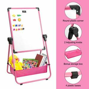 Double sided 360 Rotating Whiteboard Chalkboard 24 18 Magnetic Dry Erase Board