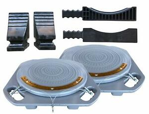 Pair Of Zackman Scientific Wheel Alignment Turn Plate Turnable With 5 Ton Cap