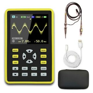 Ads5012h Handheld Portable Ips Lcd Mini Digital Oscilloscope 100mhz 500msa s