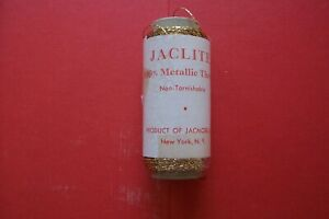 1 Vtg Antique Spool Gold Metallic Thread Product Of Jacmore Co Of New York N Y