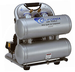 California Air Tools 4620ac Ultra Quiet Oil free Powerful Air Compressor Used