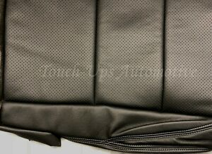 2016 2020 Tacoma Double Cab Alea Black Silver Leather Seat Covers Kit Perforated