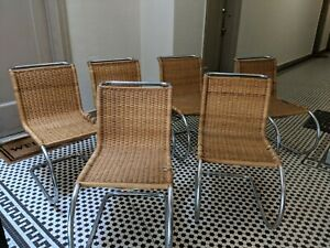 Set Of 7 Mid Century Modern Mies Van Der Rohe Mr10 Chair For Stendig Authentic