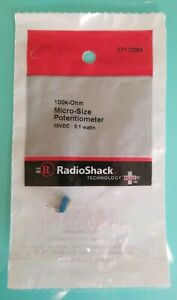 New Radioshack 100k Ohm Micro size Potentiometer 2710284 free Shipping