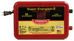 Parker Mc Crory Mfg Co Super Energizer 5 Electric Fence Charger 50 mile Low Im
