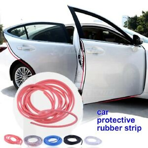 5m Car Door Boot Edge Protector Strip Trim U Guard Seal Rubber Styling Red