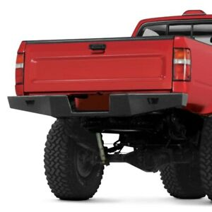 For Toyota Pickup 1989 1995 Warn Rock Crawler Full Width Black Rear Hd Bumper