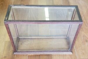Antique Vintage Glass Wood Showcase Great Condition We Ship