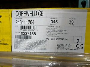 Esab Coreweld C6 045 1 2 Mm Welding Wire 243411204 45 Boxes