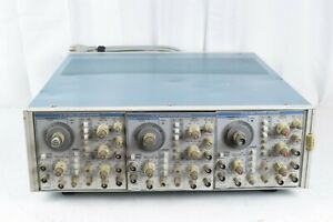 Tektronix Tm506 Mainframe Chassis With 3 Fg504 Sold As Is Free Shipping