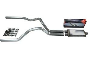 Ford F 150 Truck 87 97 2 5 Dual Truck Exhaust Kit Flow Ii Stainless Muffler