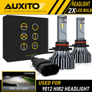 2x Auxito 9012 Hir2 Led Headlight Bulbs T7 For Dodge Dart 2013 2015 Hi lo Beam