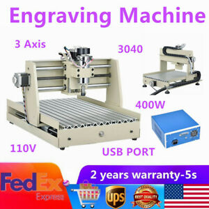 110v Mini 3 Axis3040 Engraver Cnc Router Kit Diy 3d Cutter Drill Mill Machine