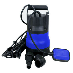 Submersible Pump Dirty Water Portability Flooding Swimming Pool 1 2 Hp 2000gph