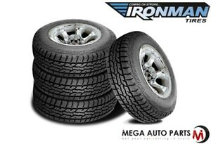 4 New Ironman All Country At Lt285 70r17 8p D Load 121 118q All Terrain Tires