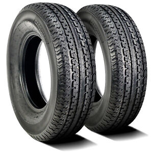 2 New Cargo Max Yt301 St 205 75r15 Load D 8 Ply Trailer Tires