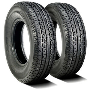 2 New Premium Cargo Max St 205 75r15 D 8 Ply Steel Belted Radial Trailer Tires