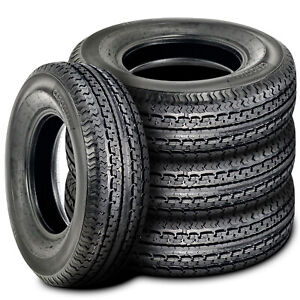 4 New Cargo Max Premium St205 75r15 Load D 8 Ply Trailer Tires