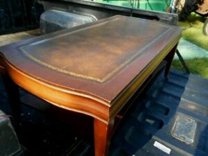 Weiman 1958 Coffee Table Leather Top 5232 W Wheels