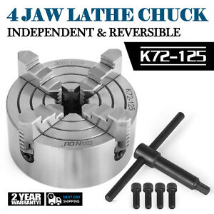 Lathe Chuck K72 125 5 4 Jaw Independent Semi steel Wood Turning Lathe Chuck
