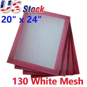 6 Pack 20 X 24 Aluminum Frame Silk Screen Printing Screens With 130 White Mesh