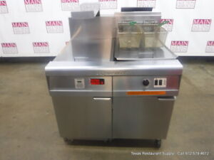 Frymaster Fm1cfesc Natural Gas Deep Fryer With Dump Station Filtration System