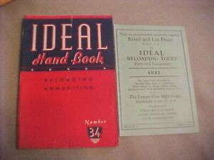 Ideal Hand Book Reloading Ammunition Number 34