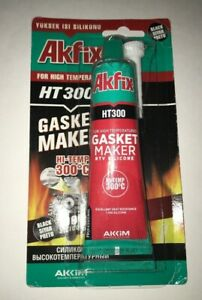 Akfix Ht300 Rtv Silicone Gasket Maker Black 3 Oz High Temp 600 F Sealant
