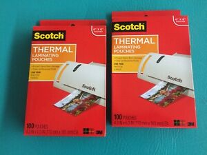 2 Packs Of Scotch 3m Thermal Laminating Pouches 4 X 6 200 Pieces Tp5900